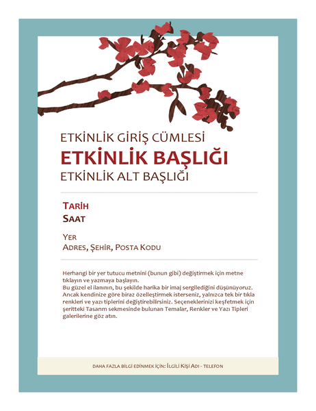 İlkbahar etkinlik el ilanı