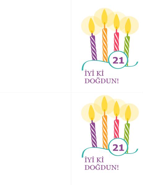 Kilometre taşı doğum günü kartları (Avery 8315 için sayfa başına 2 adet)