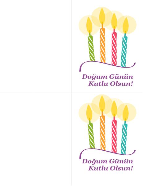 Doğum günü kartları