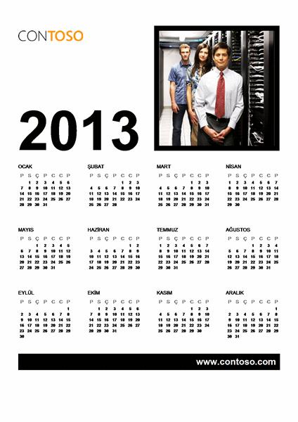 2013 İş Takvimi (Pzt-Paz)