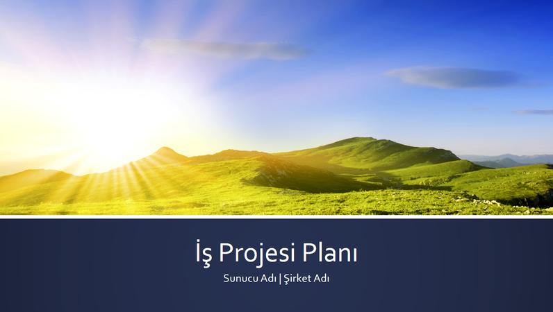 İş proje planı sunusu (geniş ekran)
