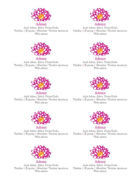 Çiçekli kişisel kartvizitler