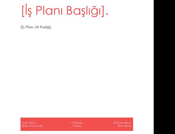 İş planı (Kırmızı tasarım)