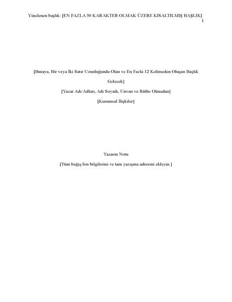 APA stili rapor (altıncı sürüm)