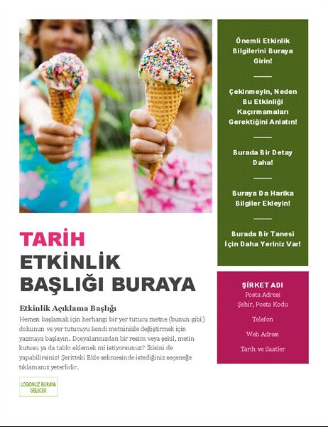 Mevsimlik etkinlik el ilanı
