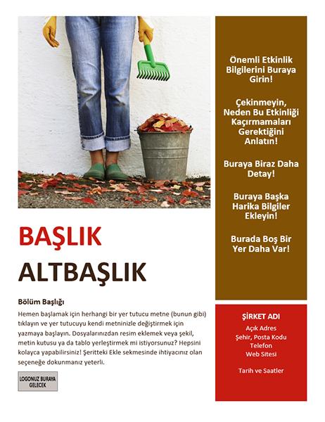 Mevsimlik etkinlik el ilanı (sonbahar)