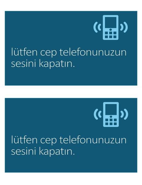 Cep telefonu yasaktır işareti (sayfa başına 2 adet)
