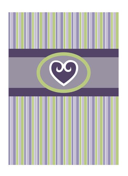 Aşk kartı (mor tasarım)