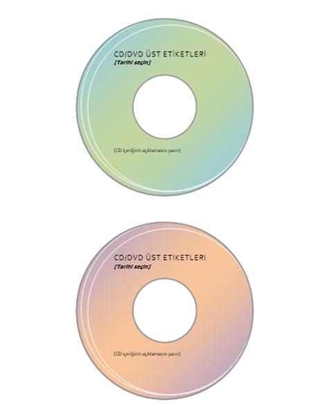 CD/DVD üst etiketleri