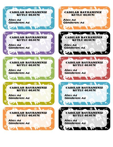 Cadılar bayramı etiketleri (sayfa başına 10)