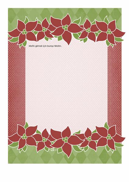 Tatil ileti örneği (Atatürk çiçeği tasarımı)