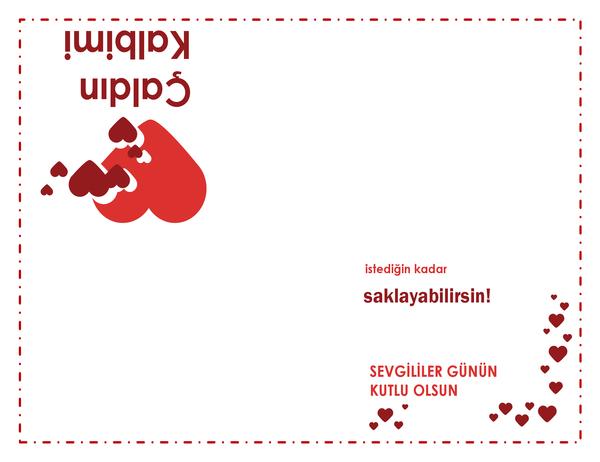 Sevgililer Günü kartı (kalp tasarımı)