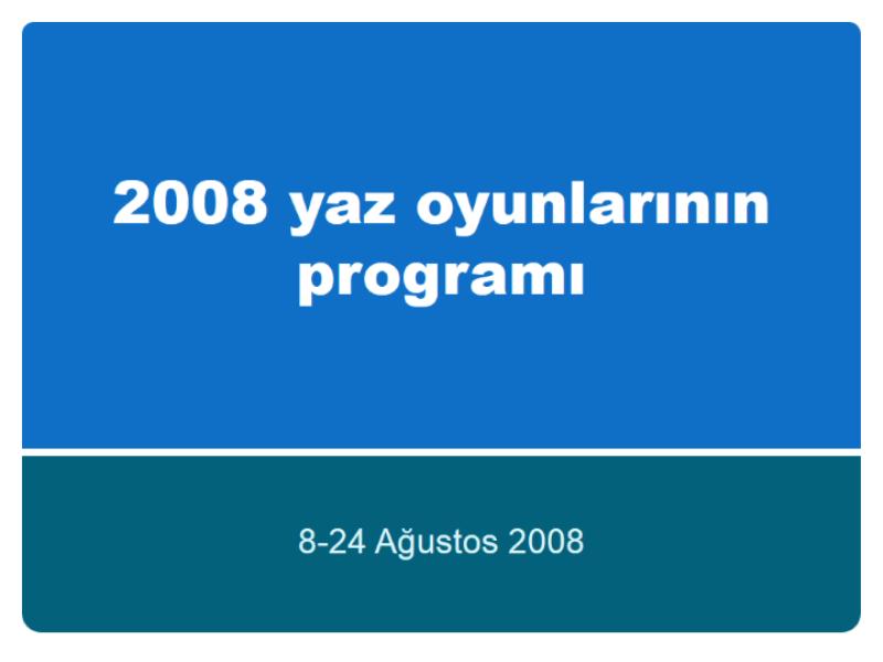 2008 Pekin Yaz Olimpiyat oyunlarının programı