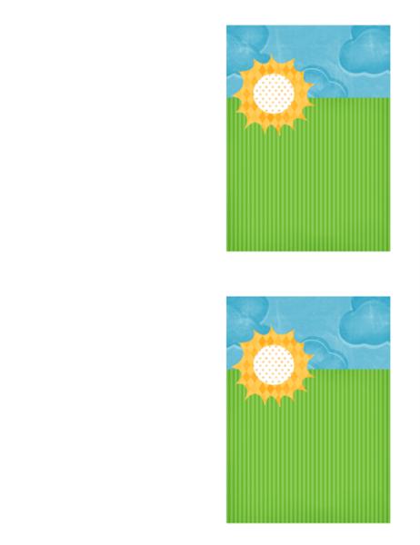 Teşekkür kartı (bulutlar tasarımı)