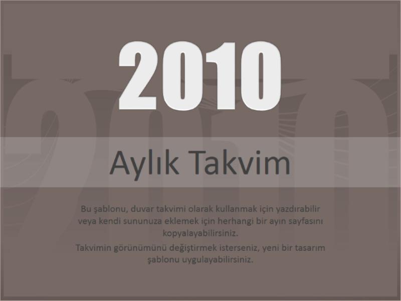 2010 takvimi (Pts-Paz)