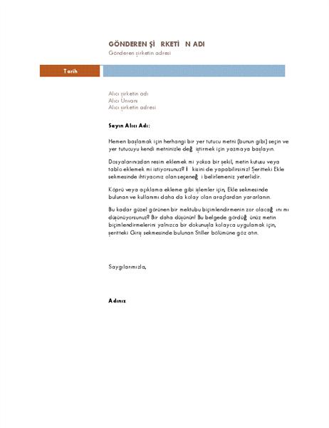İş mektubu (Medyan tema)