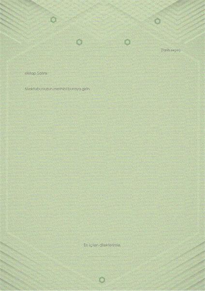 Kişisel mektup şablonu (gri-yeşil şık tasarım)