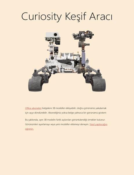3B Word bilim raporu (Mars Keşif Aracı modeli)