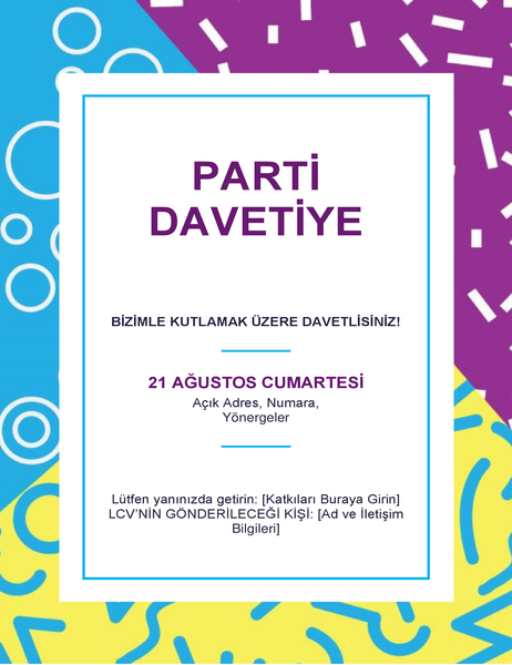 Yılbaşı partisi el ilanı
