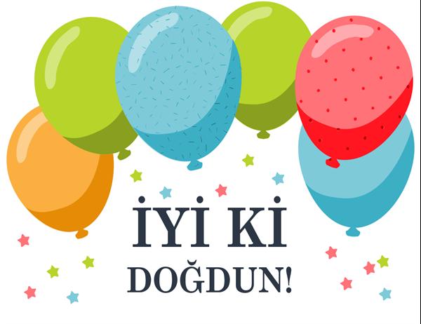 Balonlar doğum günü kartı