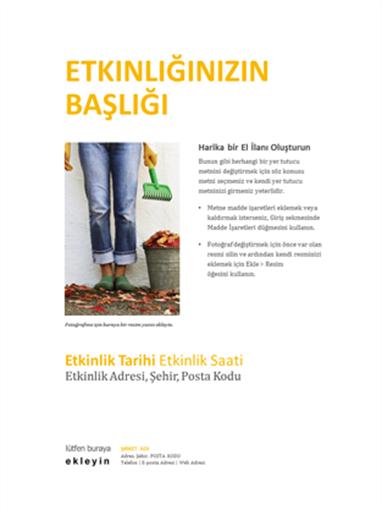 Küçük işletme el ilanı (altın renginde tasarım)