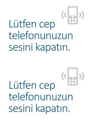 Cep telefonunu kapatma anımsatıcısı posteri