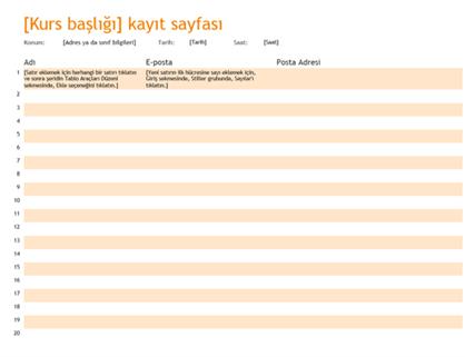 Kayıt sayfası