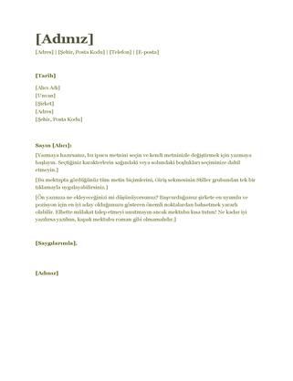 Özgeçmiş kapak yazısı (yeşil)