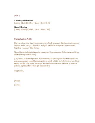 Resmi iş mektubu