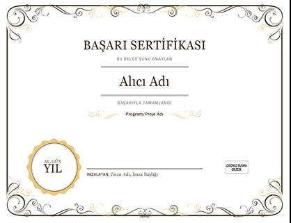Başarı sertifikası