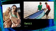 Tatil fotoğraf albümü (tebeşir tasarımı)