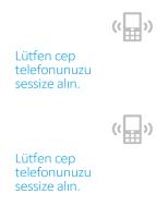 Cep telefonu kapatma anımsatıcı poster