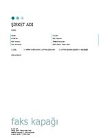 Faks kapak sayfası (Noktalar teması)