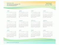 Küçük işletme takvimi (herhangi bir yıl)