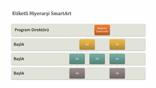 Hiyerarşik kuruluş şeması (geniş ekran)