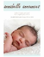 Erkek Bebek Doğum Duyurusu