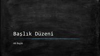 Yazı tahtası eğitim sunusu (geniş ekran)