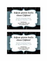 Parti davetiyesi (mavi şerit tasarımı)