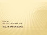 Mali performans sunusu