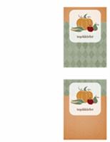 Teşekkür kartı (hasat tasarımı)