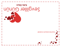 Sevgililer Günü kartı (içi boş)
