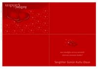 Sevgililer Günü kartı (dörde katlanmış)