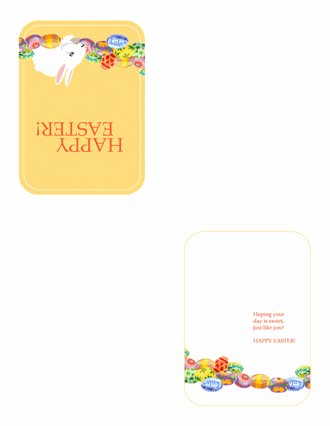 Листівка до Великодня (із кроликом і кошиком яєць)