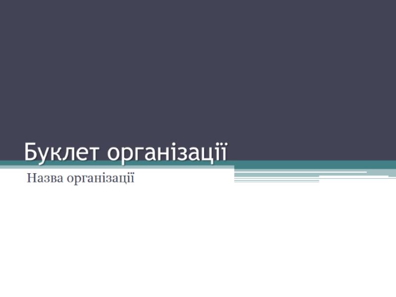 Буклет організації