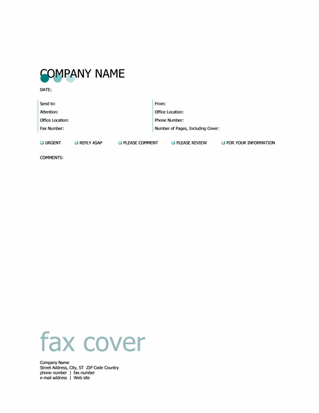 Титульний аркуш факсу (тема «Пунктир»)