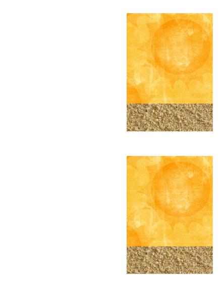 """Листівка з подякою (макет """"Сонце й пісок"""")"""