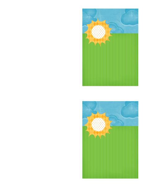 Подячна листівка (оформлення «Хмари»)