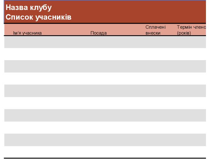 Список учасників