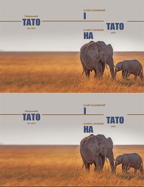 """Листівка """"Мудрий слон"""" на день батька"""