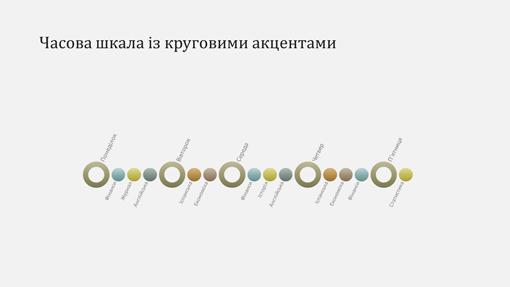 Слайд із діаграмою шкали часу події (широкоформатний)